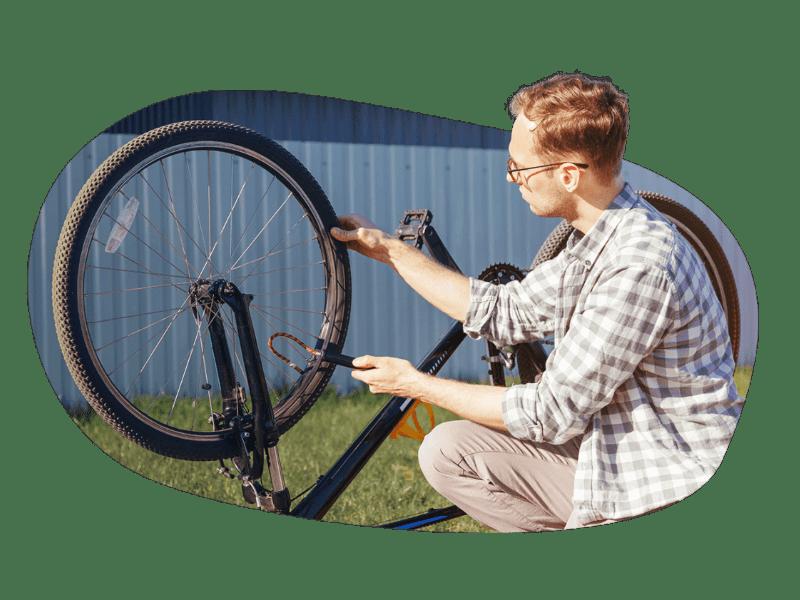 Fahrradfahrer Biker Fahrradunfall