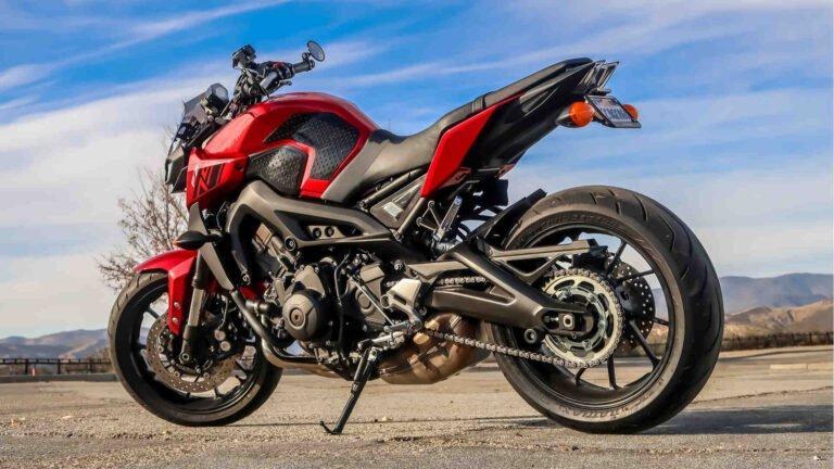 Motorrad nach Unfall