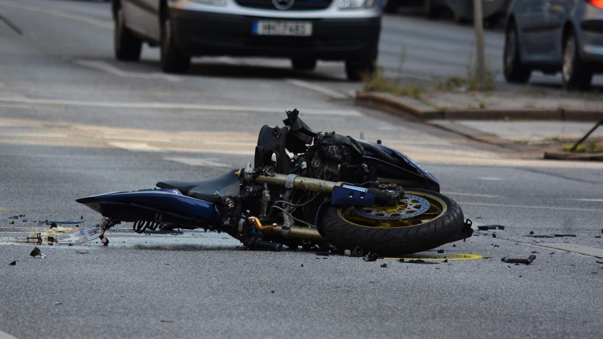 kaputtes Motorrad