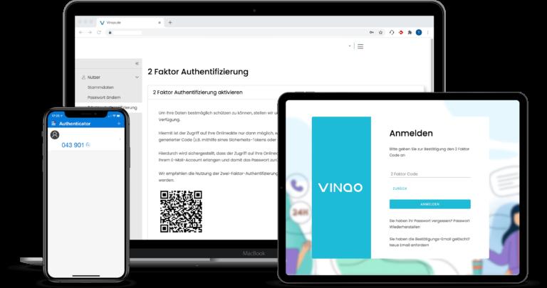 2 Faktor Authentifizierung VINQO